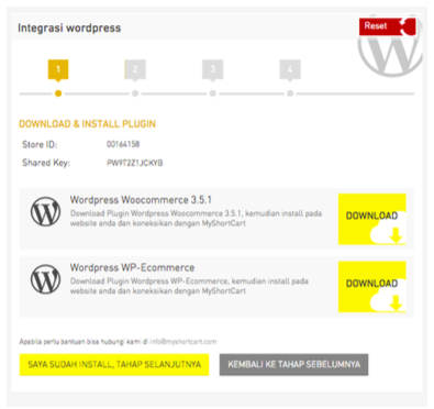 integrasi doku myshortcart dan website toko online