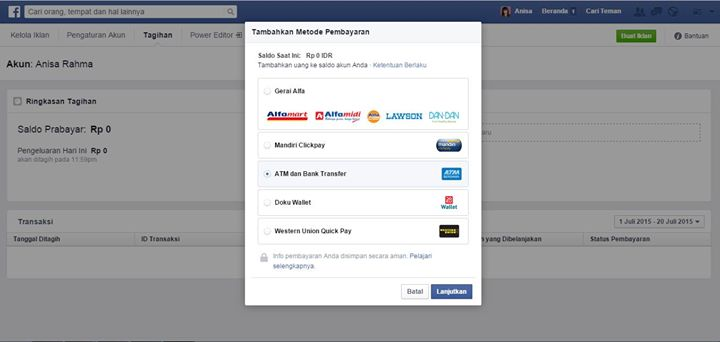 ATM-BANK no 8 facebook ads media sosial