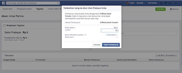 facebook ads tanpa kartu kredit