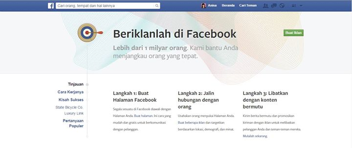 media sosial indonesia belajar facebook ads