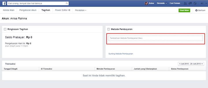 metode-pembayaran media sosial indonesia facebook ads