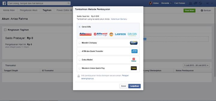 tampilan no 7 facebook ads