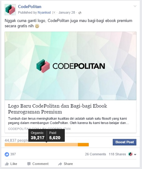 a- iklan Facebook ads di media sosial