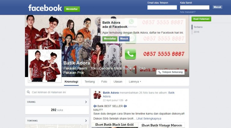 cover dan avatar facebook fanpage
