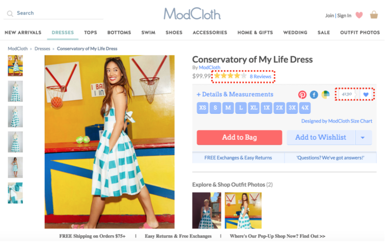 social proof pada product pages