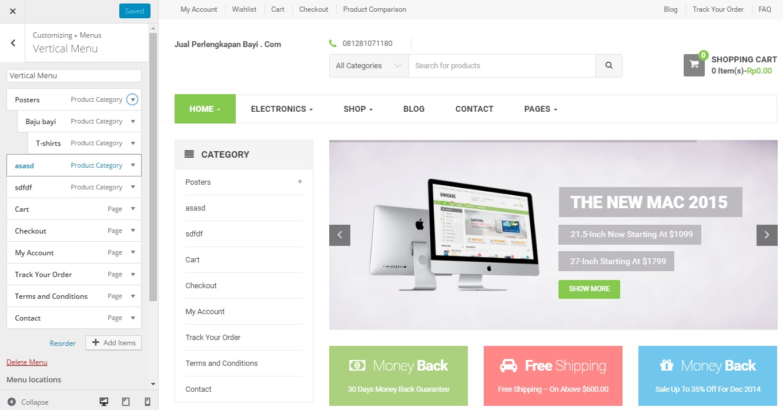 buat toko online dengan woocommerce unicase