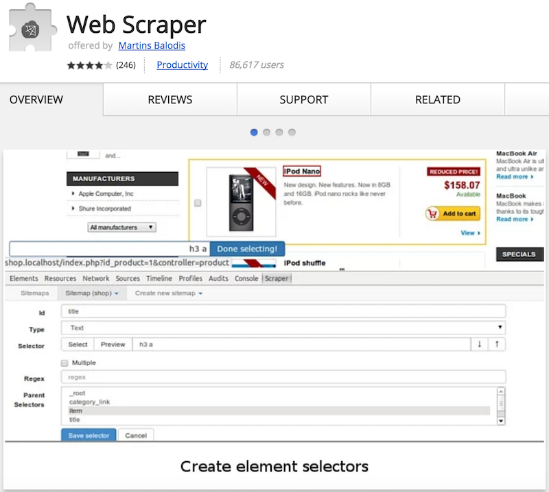 Web Scraper - Chrome Extension