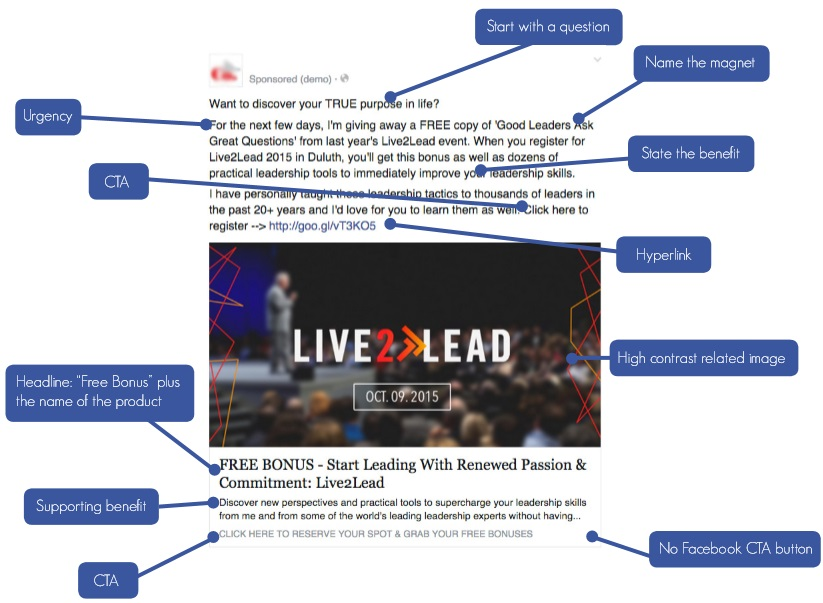 template facebook marketing jenis lead ads