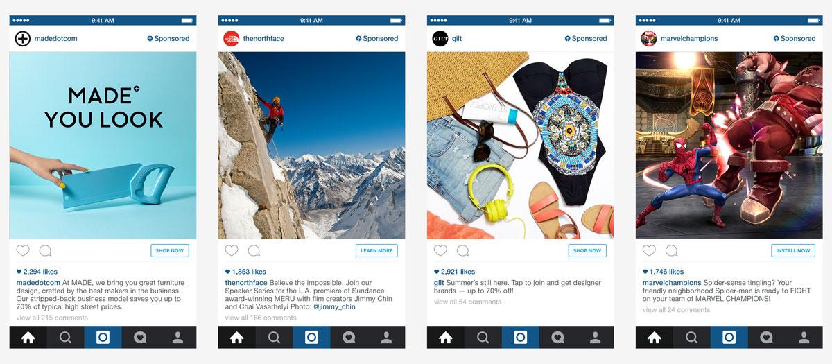 fashion retailer di Instagram