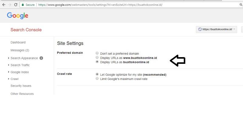 search console ecommerce online shop