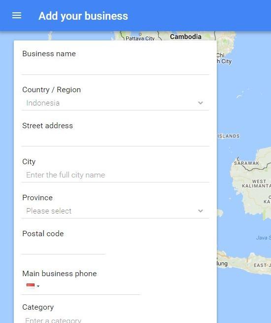 cara mendaftar toko di google map