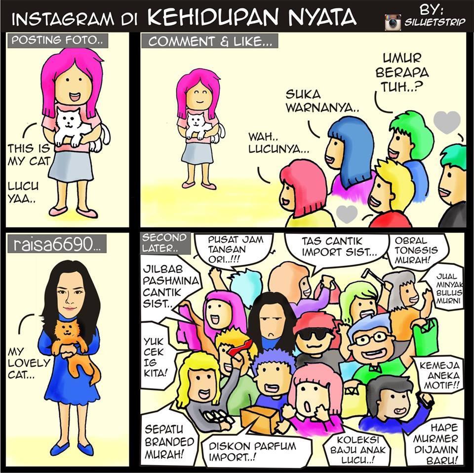 Jualan Line Gaya Lucu Orang Indonesia Berjualan Di