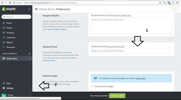 penjualan FB Pixel dan pelacakan konversi pada Shopify