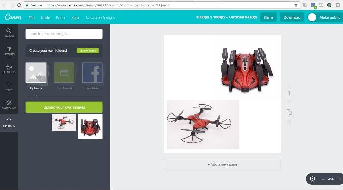 edit gambar produk jualan online