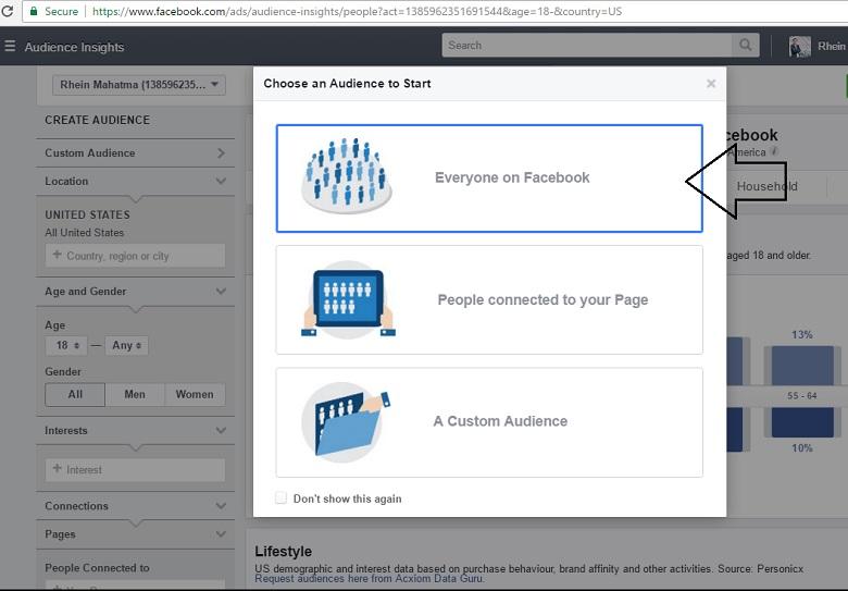 cara menggunakan Facebook Audience Insight