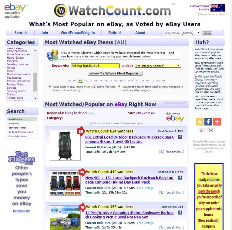 menemukan produk untuk dijual di watchcount
