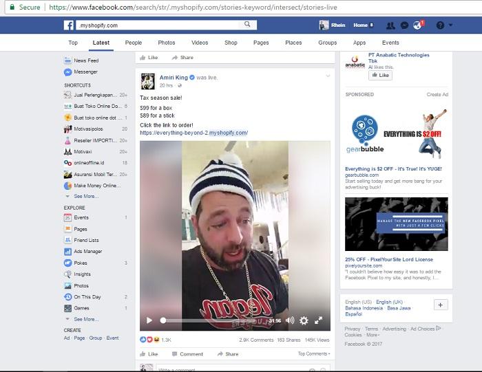 riset produk reseller di Facebook