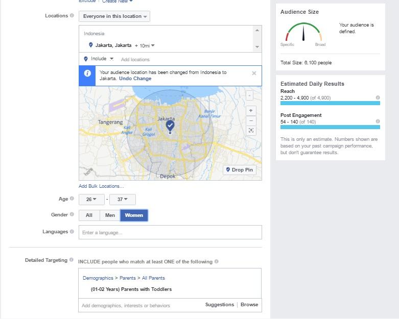 targeting dropship di FB