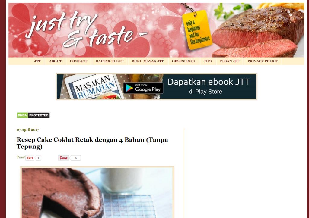 peluang usaha bisnis blog masak