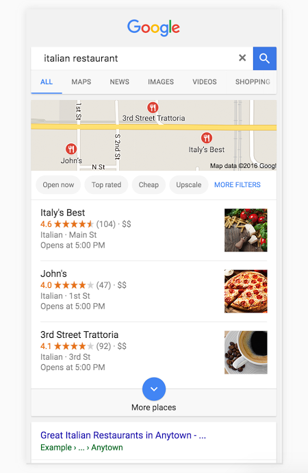 cara teranking di google map