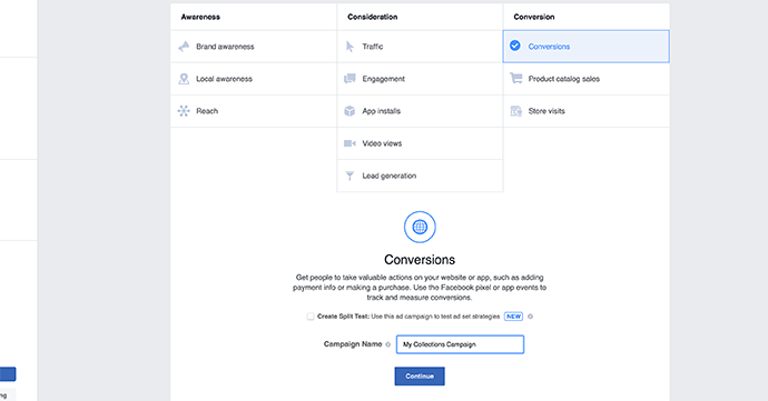 Cara Membuat Facebook Ad Collection