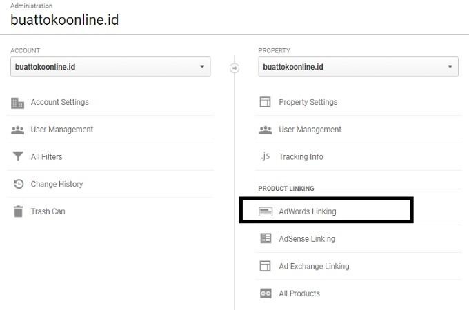 cara meng-connect adwords dengan google analytics