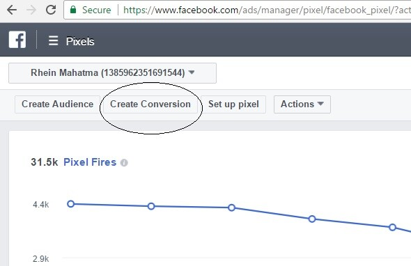 belajar facebook ads create conversion - standard event