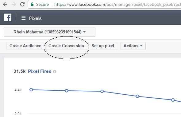belajar facebook ads create conversion - standard event