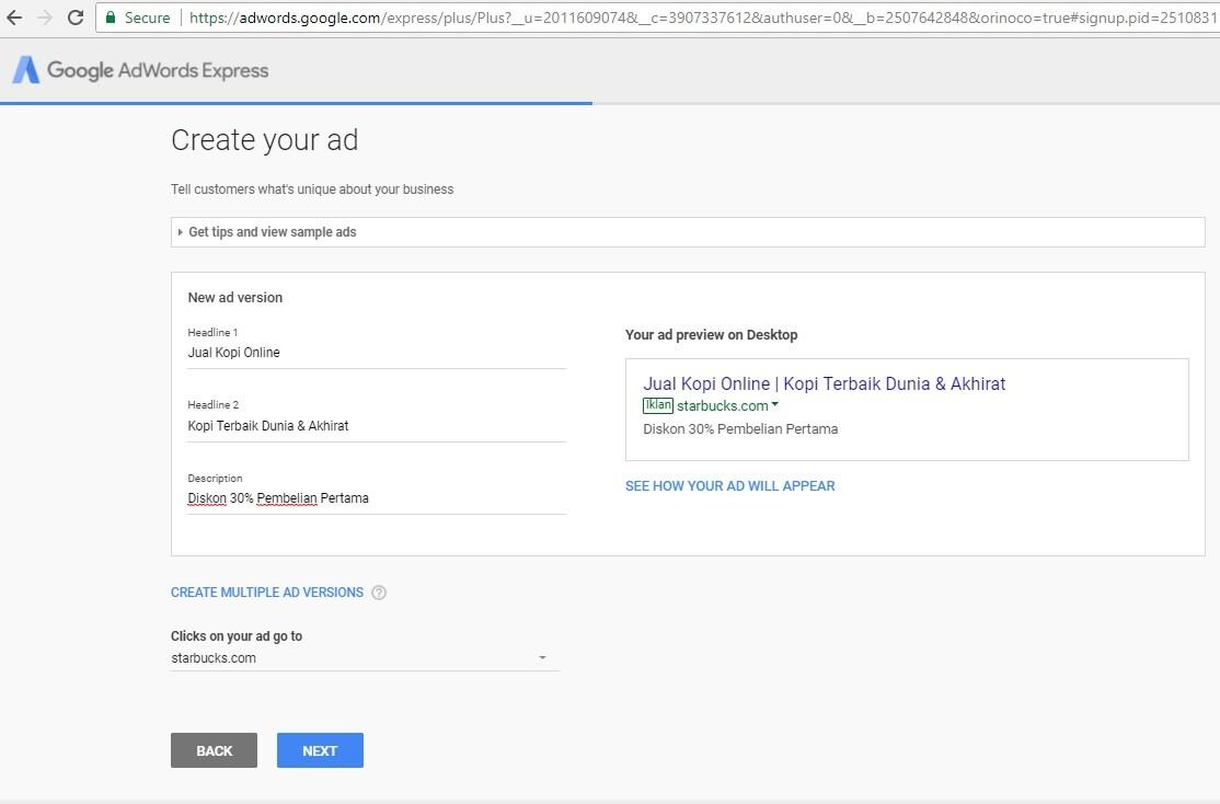 cara bayar google adwords ATM tanpa kartu kredit